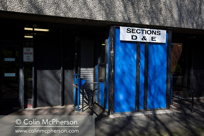 The turnstiles at the Commonwealth Stadium before Edinburgh City took on Elgin City in an SPFL League 2 fixture at Meadowbank. The ground was due to be demolished at the end of the 2016-17 season, City's first in the Scottish League since promotion the previous season from the Lowland League. Edinburgh City won this game 3-0, their best result of the season thus far, watched by 396 spectators.