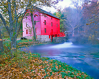 Fall Morning at Alley Spring Mill, Ozark National Scenic Riverways, Missouri  Ozark Mountains
