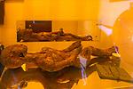 Model of alien inside Bentwaters Cold War museum, Suffolk, England, UK