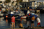 The fishing harbour of Arguinequin, Gran Canaria, Canary Islands.