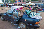 Car Loaded With items For Sale At Local Market