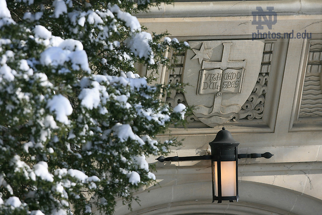 O'Shaugnessy Hall entrace in winter