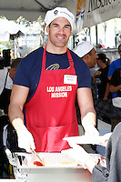 April 2, 2010: Brandon Molale at the LA Mission Easter Luncheon event for the homeless in Los Angeles, California. .Photo by Nina Prommer/Milestone Photo.