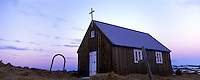 Krisuvikur church near Grindavik Iceland. Images taken with Hasselblad Xpan camera and Fuji Velvia film.