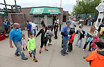 SIOUX FALLS, SD, MAY 20:  Fans enter the stadium Friday night before the baseball game starts at the Sioux Falls Stadium. (Photo by Dave Eggen/Inertia)