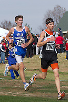 Matthew Bauman runs to a 21st place finish in the Class 1 Boys race at the Missouri State Cross Country Meet, in Jefferson City, Saturday, November 3.