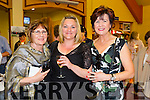 Enjoying theBallybunion Fashion Show in aid of  St Joseph's Secondary school at Tintean Theatre on Thursday were Phil Smith, Lorraine Smith and Eileen Keenelly