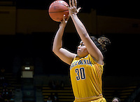 Mikayla Lyles of California shoots the ball during the game against UCLA at Haas Pavilion in Berkeley, California on January 20th, 2013.   California defeated UCLA, 70-65.