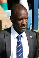 Southend United manager, Chris Powell in relaxed mood despite running the London Marathon tomorrow during the Sky Bet League 1 match between Southend United and MK Dons at Roots Hall, Southend, England on 21 April 2018. Photo by Carlton Myrie.