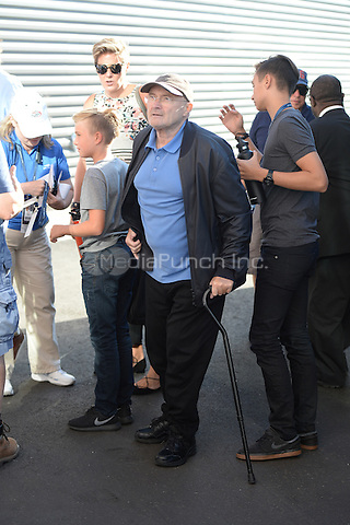 FLUSHING NY- AUGUST 29: Phil Collins seen arriving during opening night ceremony on Arthur Ashe Stadium at the USTA Billie Jean King National Tennis Center on August 29, 2016 in Flushing Queens. Credit: mpi04/MediaPunch