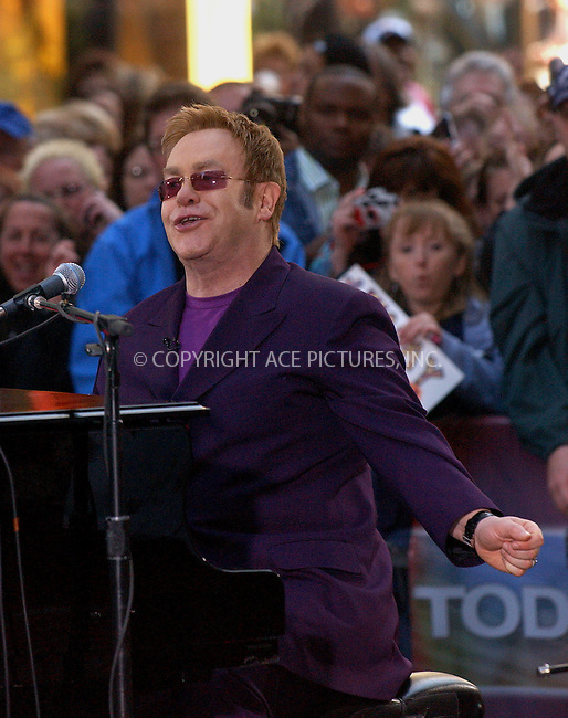 WWW.ACEPIXS.COM . . . . . ....NEW YORK, APRIL 25, 2006....Sir Elton John playing live at 'The Today Show'.....Please byline: KRISTIN CALLAHAN - ACEPIXS.COM.. . . . . . ..Ace Pictures, Inc:  ..(212) 243-8787 or (646) 679 0430..e-mail: picturedesk@acepixs.com..web: http://www.acepixs.com