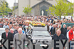 The funeral of John O Carroll in Ballyduff on Sunday..