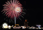 Fireworks over the RSVP Carnival at Mills Park in Carson City, Nev., on Monday, July 4, 2011..Photo by Cathleen Allison