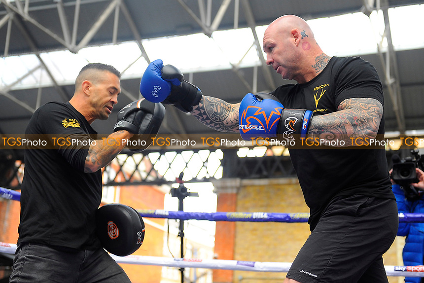 Lucas Brown during a Public Workout at Old Spitalfields Market on 12th April 2019
