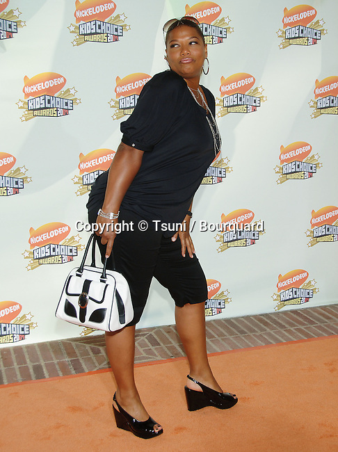 Queen Latifah arriving at the Nickelodeon's 20th Annual Kids' Choice Awards 2007 at the Pauley Pavillion at UCLA In Los Angeles.<br /> <br /> full length<br /> funny pose