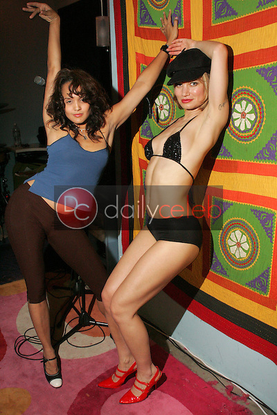 """Indrani and Rena<br />with dance troupe """"Femme Fatales"""" rehearse for their performance with Stereocell at the Viper Room on November 30th, Private Location, Los Angeles, CA. 11-28-05<br />Dave Edwards/DailyCeleb.com 818-249-4998"""