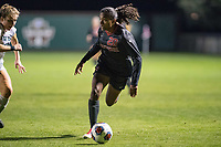 Stanford CA - November 11, 2017: Stanford Cardinal Women's Soccer team beat Utah Valley University 9-1 in the first round of the NCAA tournament at Cagan Stadium.