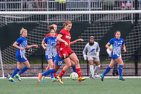 Allston, MA - Sunday, May 1, 2016:  Boston Portland Thorns FC midfielder Lindsey Horan (7) in a match at Harvard University.