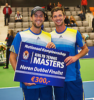 21-12-13,Netherlands, Rotterdam,  Topsportcentrum, Tennis Masters, Mens doubles final, runners up ,Antal van der Duim and Boy Westerhof(L)(NED)<br /> Photo: Henk Koster