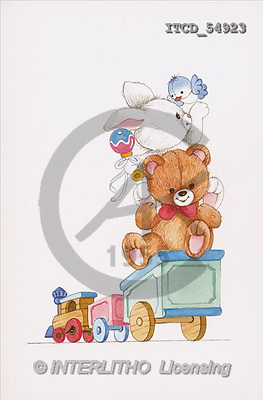 Michele, BABIES, paintings, train, animals(ITCD54923,#B#) bébé, illustrations, pinturas ,everyday