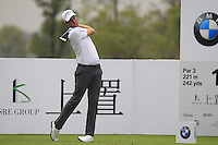 Chris Kirk (USA) tees off the 12th tee during Friday's Round 2 of the 2014 BMW Masters held at Lake Malaren, Shanghai, China 31st October 2014.<br /> Picture: Eoin Clarke www.golffile.ie