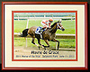 5.5x8 photo of Havre de Grace 2011 Eclipse Horse of the Year framed to 8x10 donated to Delaware Equine Council's 2012 fundraiser