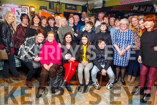 50th Birthday: Moira McElligott, Listowel, centre front, celebrating her surprise 50th birthday with family & friends at the Saddle Bar, Listowel on Saturday night last.