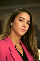 "Gold medal Olympic gymnast Aly Raisman spoke out about her abuse by team doctor Larry Nasser, and how the US Olympic Committee had failed to protect female athletes, and her new book ""Fierce: How Competing for Myself Changed Everything"" at Kraft Hall at the Rivers School in Weston MA 11.16.17"