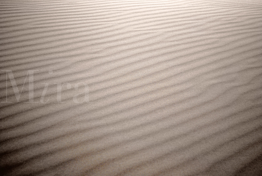 Ripples in sand.