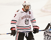 Mike McMurtry (NU - 7) - The visiting Bentley University Falcons defeated the Northeastern University Huskies 3-2 on Friday, October 16, 2015, at Matthews Arena in Boston, Massachusetts.