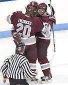 Colgate ?, Jason Fredricks and Ryan Smyth celebrate - Colgate University defeated Yale University 6-2 at Ingalls Rink in New Haven, CT on November 5, 2005.