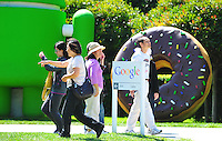 Sept. 6, 2011 - Mountain View, California - U.S. - People view giant sculptures at the Google world headquarters in Mountain View, California Monday September 5, 2011.  (Credit Image: Alan Greth/ZUMAPress.com).