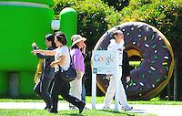 Sept. 6, 2011 - Mountain View, California - U.S. - People view giant sculptures at the Google world headquarters in Mountain View, California Monday September 5, 2011.  (Credit Image: Alan Greth/ZUMAPress.com).