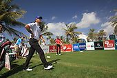 Ricardo Santos (POR) walks off the 13th tee during Sunday's Final Round of the 2013 Omega Dubai Desert Classic held at the Emirates Golf Club, Dubai, 3rd February 2013..Photo Eoin Clarke/www.golffile.ie