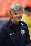 10 May 2008: United States head coach Pia Sundhage (SWE). The United States Women's National Team defeated the Canada Women's National Team 6-0 at RFK Stadium in Washington, DC in a women's international friendly soccer match.