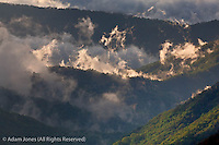 Clouds in Oconaluftee Valley at sunrise, Great Smoky Mountains National Park, North Carolina