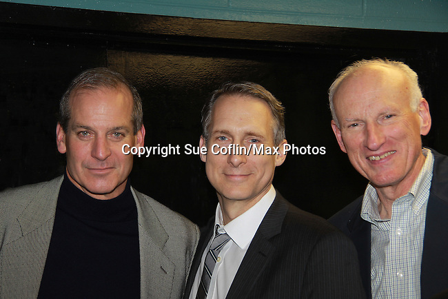 """John Bolger (Guiding Light's """"Phillip Spaulding"""", One Life To Live's """"John Sykes"""", Another World, Loving and most recently General Hospital)  stars along with Guiding Light James Rebhorn """"Bradley Raines"""" and The Doctors in Twelve Angry Men on opening night, March 16, 2012 at the George Street Playhouse, New Brunswick, NJ.  (Photo by Sue Coflin/Max Photos)"""