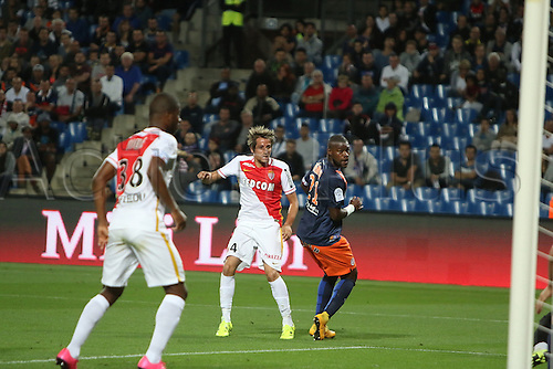 24.09.2015. Montpelier, France. French League 1 football. Montpellier versus AS Monaco.  but monaco fabio coentrao