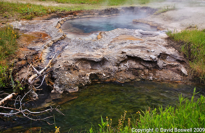 An unnamed hot spring near Great Fountain Geyser in the Lower Geyser Basin of Yellowstone National Park.