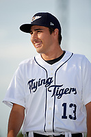 Lakeland Flying Tigers pitcher Alex Faedo (13) during introductions before a game against the Tampa Tarpons on April 5, 2018 at Publix Field at Joker Marchant Stadium in Lakeland, Florida.  Tampa defeated Lakeland 4-2.  (Mike Janes/Four Seam Images)