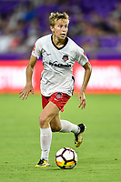 Orlando, FL - Saturday July 07, 2018: Rebecca Quinn during the second half of a regular season National Women's Soccer League (NWSL) match between the Orlando Pride and the Washington Spirit at Orlando City Stadium. Orlando defeated Washington 2-1.