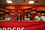 """Robin Strasser, Brittany Underwood, Jason Tam, John-Paul Lavoisier will be reading passages Red Carpet Riot by """"David Van Etten"""" who is actually three writters: Emmy-winning OLTL scribe Chris Van Etten and his friends David Levithan and David Ozanich on August 15, 2009 at Borders, Time Warner Center Mall, New York City, New York. (Photo by Sue Coflin/Max Photos)"""
