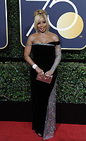 www.acepixs.com<br /> <br /> January 7 2018, LA<br /> <br /> Mary J. Blige arriving at the 75th Annual Golden Globe Awards at The Beverly Hilton Hotel on January 7, 2018 in Beverly Hills, California.<br /> <br /> By Line: Peter West/ACE Pictures<br /> <br /> <br /> ACE Pictures Inc<br /> Tel: 6467670430<br /> Email: info@acepixs.com<br /> www.acepixs.com