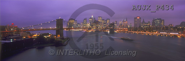 Dr. Xiong, LANDSCAPES, panoramic, photos, Rain at dusk, NY, USA(AUJXP434,#L#)
