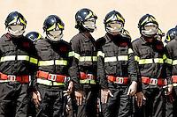 Roma 23-07-2015 Scuole centrali antincendio di Capannelle. Giuramento di 620 allievi Vigili del fuoco.<br /> Swearing of 620 cadets of the Firefighters<br /> Photo Samantha Zucchi Insidefoto