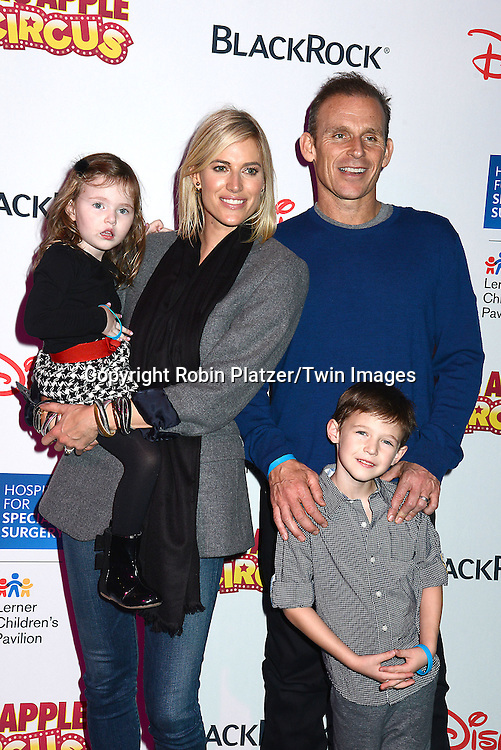 Kristen Taekman  of The Real Housewives of New York and her children Kingsley and Cash and husband Josh Taekman attend the Hospital for Special Surgery's 8th Annual  Big Apple Circus Benefit on December 6, 2014 at Damrosch Park in Lincoln Center  in New York City, USA.<br /> <br /> photo by Robin Platzer/Twin Images<br />  <br /> phone number 212-935-0770