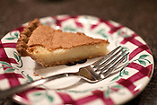 November 23, 2009. Holly Springs, North Carolina..Jackie Greene, the owner of Sweet Cheeks Bakery, makes her old fashioned buttermilk pie at her in home bakery.
