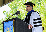 Regent Jason Geddes speaks during the 2015 Western Nevada College Commencement held at the Pony Express Pavilion in Carson City, Nev., on Monday, May 18, 2015.<br /> Photo by Tim Dunn