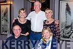 The Mangan Family enjoying night out at No 4 The Square on Saturday night last. Seated l to r, Declan and Shirley Mangan. Back Eimear, Colm and Paula Mangan.