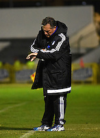 TUNJA -COLOMBIA, 02-07-2016. Rubén Israel director técnico de Millonarios .Acción de juego entre  Millonarios  y  Patriotas  FC durante encuentro  por la fecha 1 de la Liga Aguila II 2016 disputado en el estadio de  La Independencia./ Ruben Israel coach of Millonarios.Action game between  of Millonarios and Patriotas FC during match for the date 1 of the Aguila League II 2016 played at La Independencia  stadium . Photo:VizzorImage / César Melgarejo   / Cont